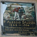 Columbarium plaque for Alessio Salvini - with painting