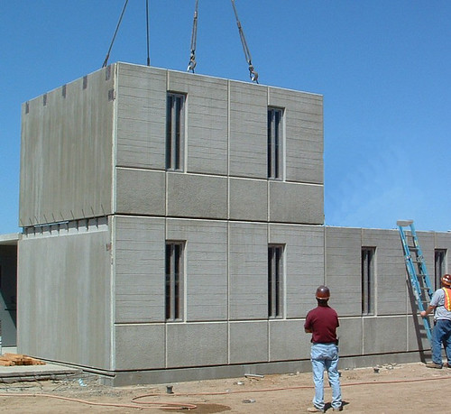 Construction of precast modular housing units Precast concrete residential homes