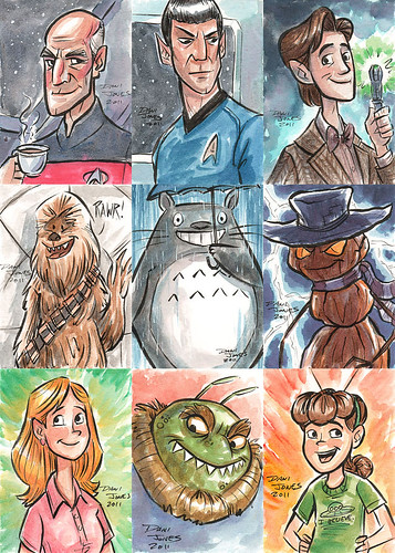 Spacemen, Aliens, and Monsters | by DaniDraws