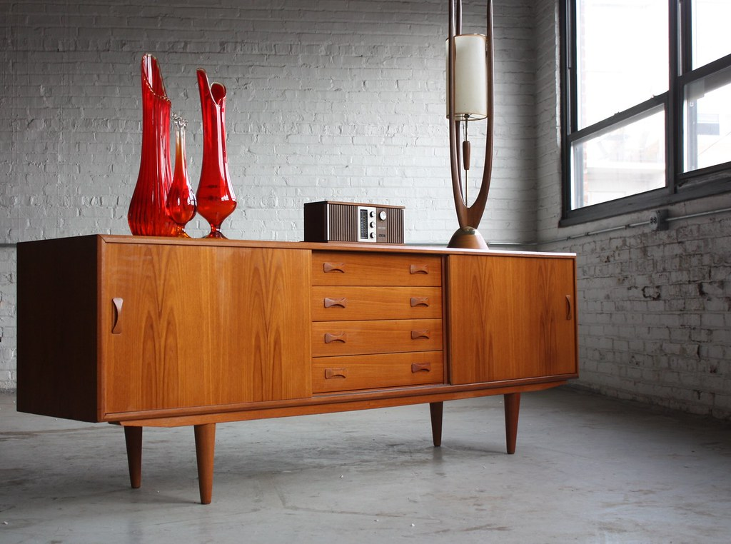 mid century modern credenza los angeles plans son long ebay