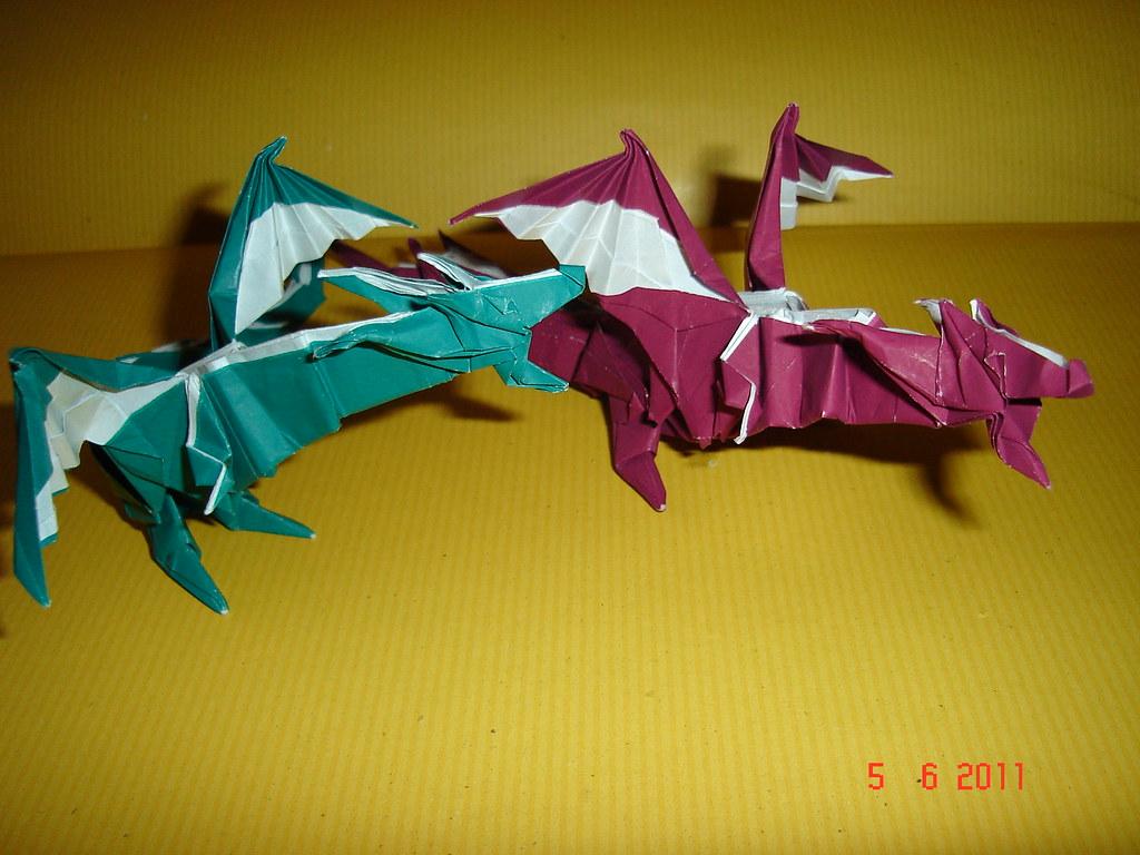 origami fiery dragon kade chan new fold1 corvonero