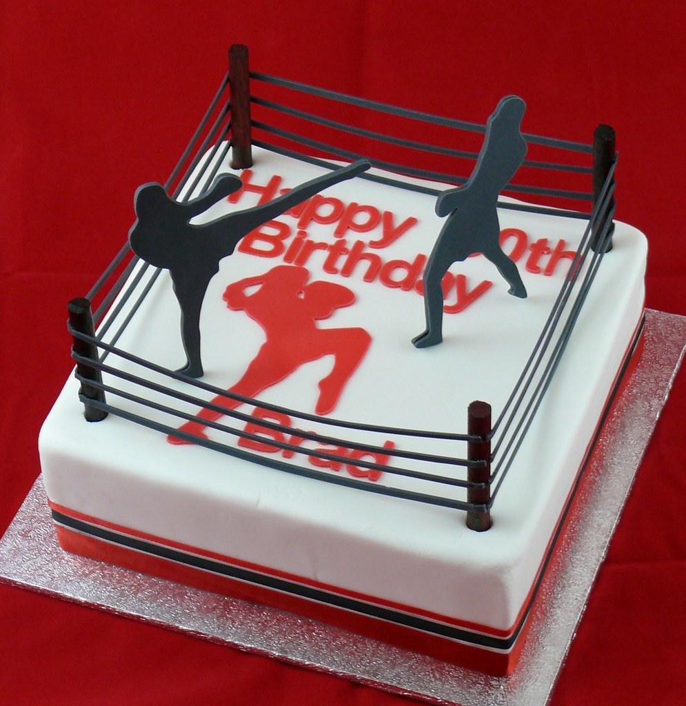 Thai Boxing Birthday Cake