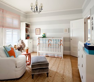 striped grey nursery | by The Estate of Things