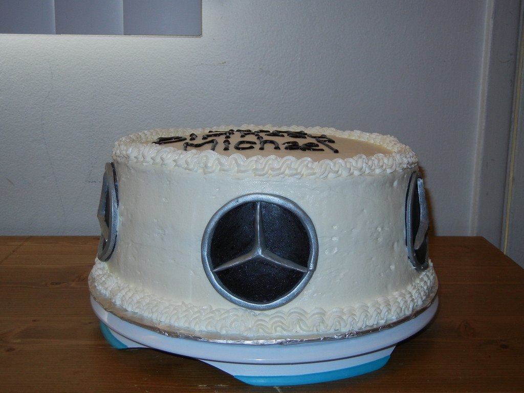 Mercedes Benz Logo Birthday Cake Kristy Ehoff Flickr