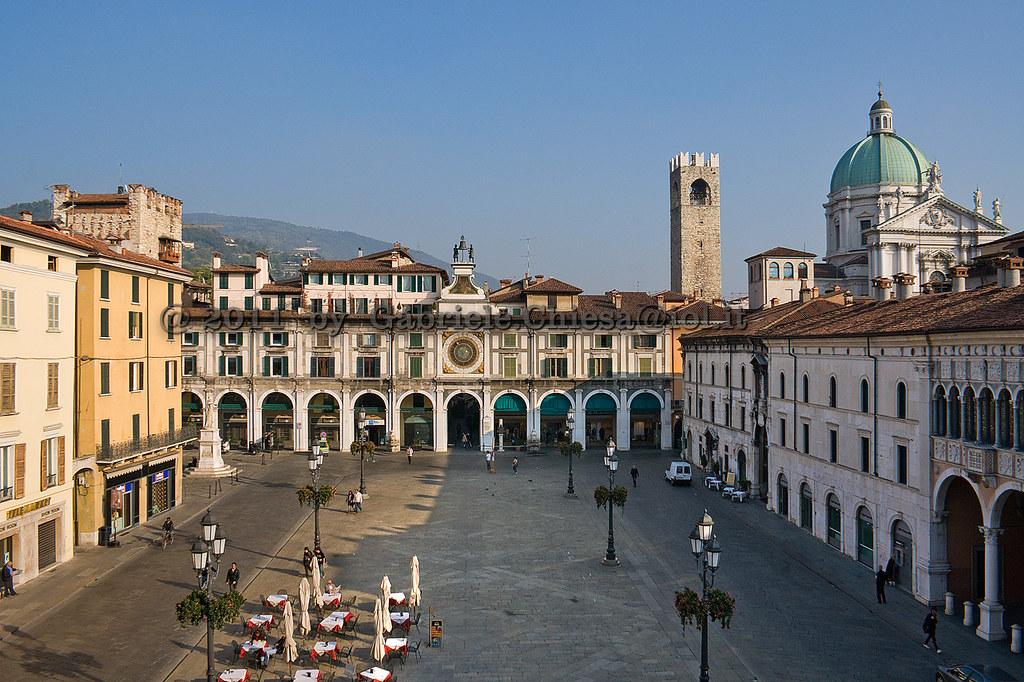 Brescia Italy  city pictures gallery : Loggia square, Brescia, Italy | Antique square of Brescia ci ...