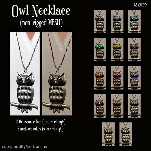 Owl Necklace (mesh) | by Izzie Button