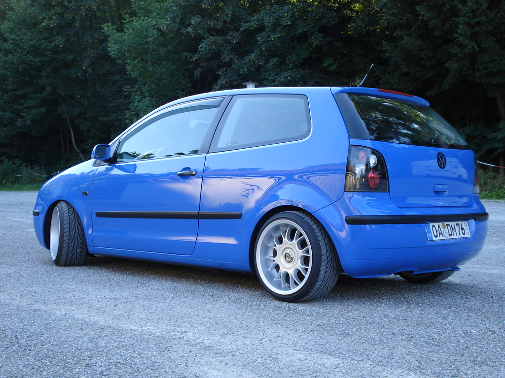 vw polo 9n tuning summerblue 03 schr g hinten. Black Bedroom Furniture Sets. Home Design Ideas