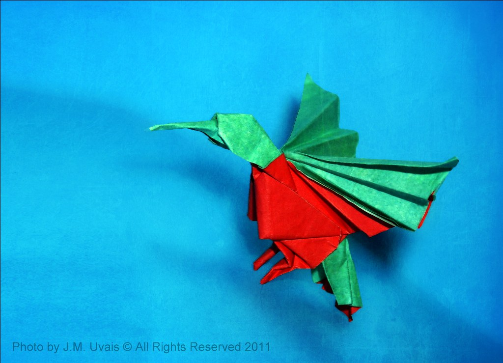 Origami Hummingbird | Creator: Aldo Marcell Folded by me ... - photo#40