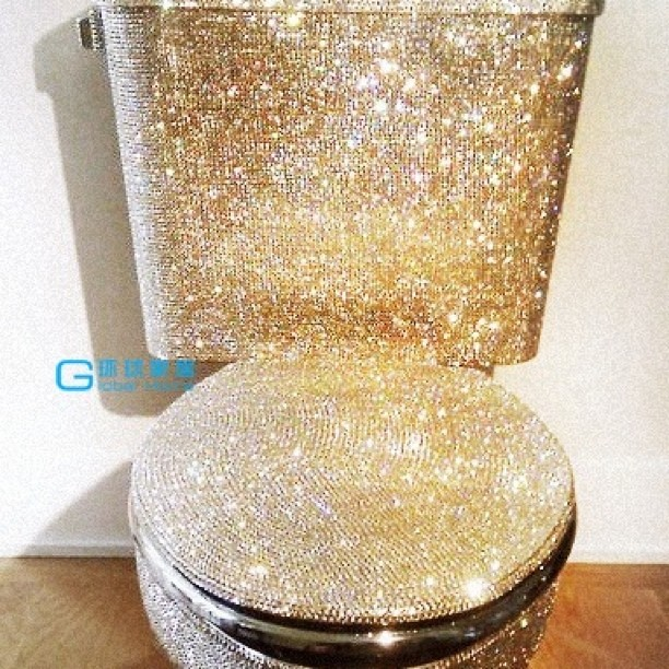 Awesome Bling Bling Toilet Bowl Pinkkipigletqueen