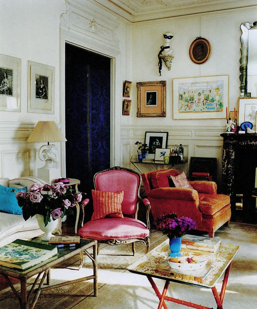 Hamish bowles francois halard world of interiors ecle Modern eclectic living room