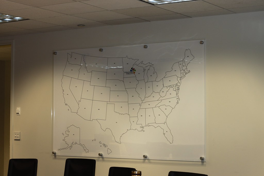 Glass Dry Erase Board With Custom Map Graphic Backer Flickr
