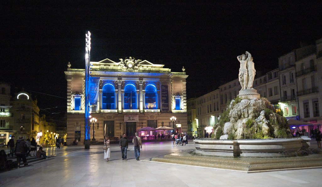 night lights place de la comedie montpellier france flickr. Black Bedroom Furniture Sets. Home Design Ideas