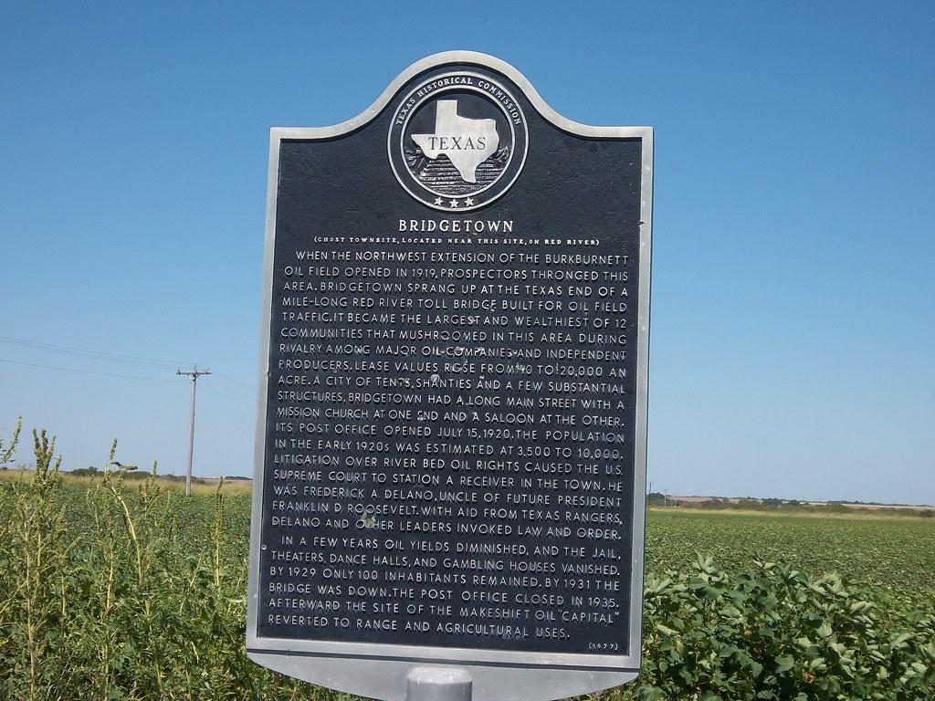 Bridgetown, Texas Historical Marker | When the northwest ...