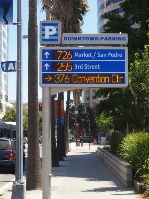 Integrated Real Time Parking Wayfinding Signage San Jose