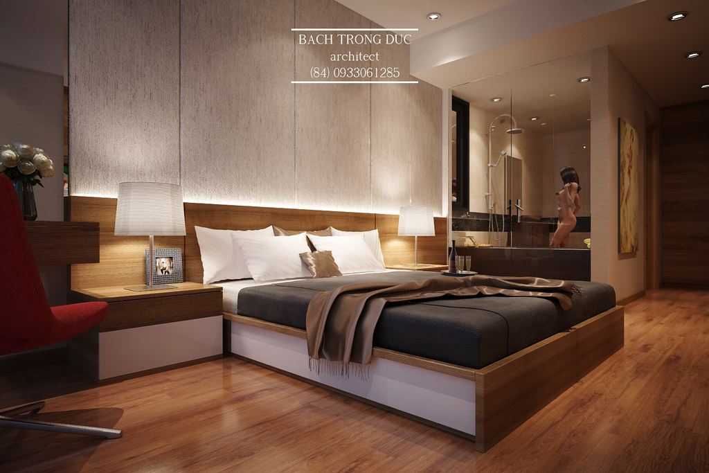 Small apartment bedroom interior design bach trong for Best interior designs for 3 bhk flats