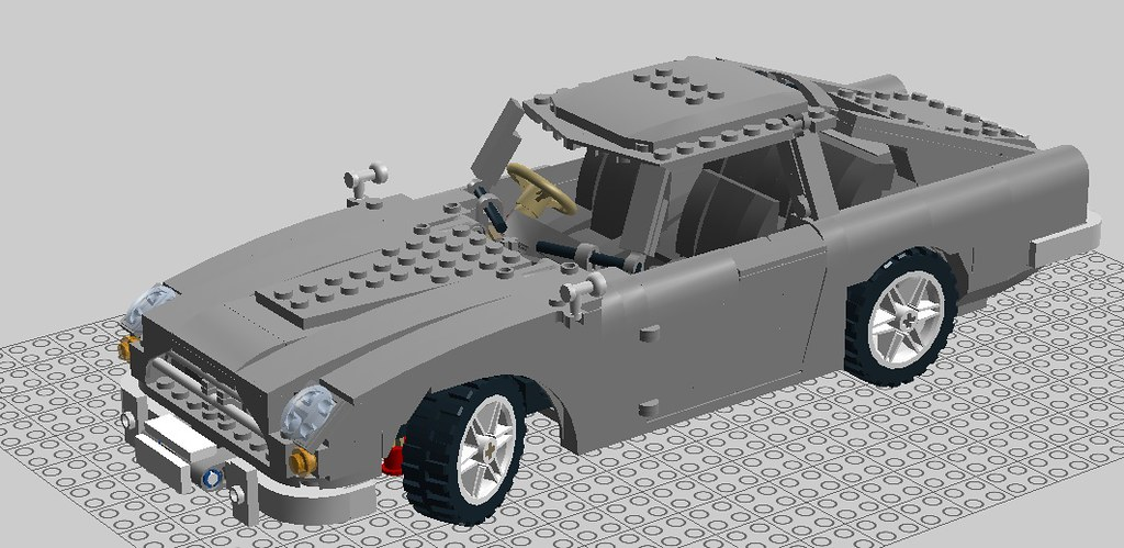 a lego scale model of the db5 a scale model of james. Black Bedroom Furniture Sets. Home Design Ideas