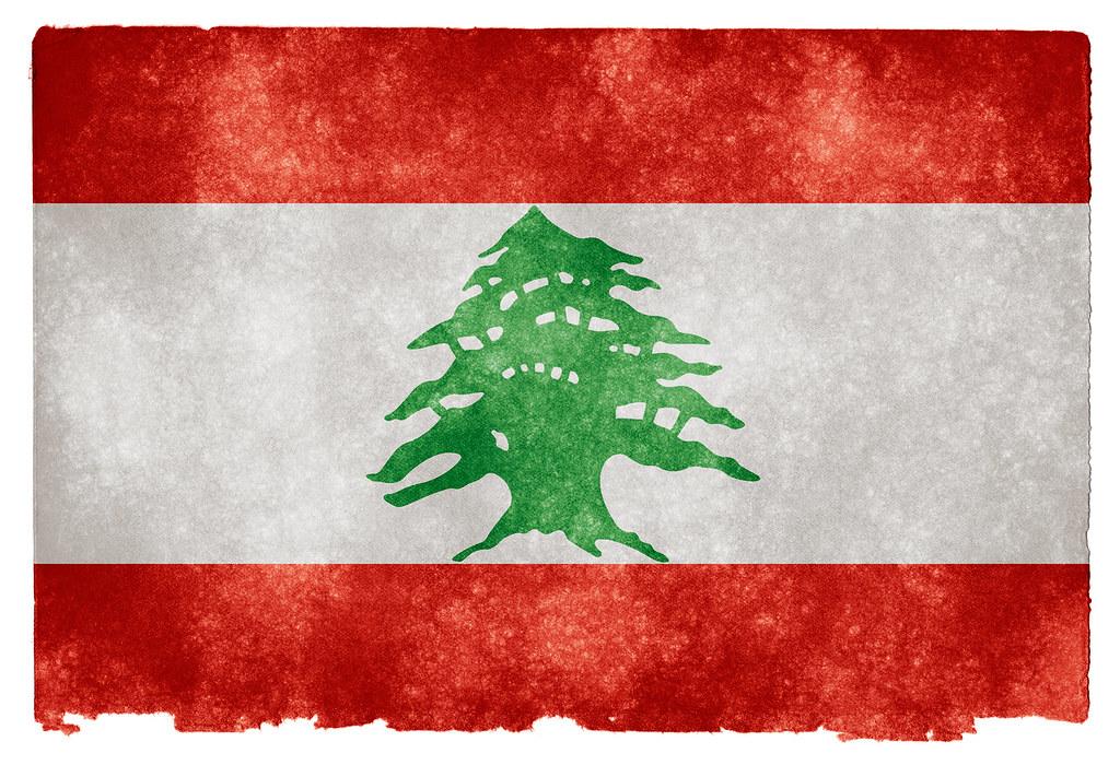 Lebanon Grunge Flag   Grunge textured flag of Lebanon on ...