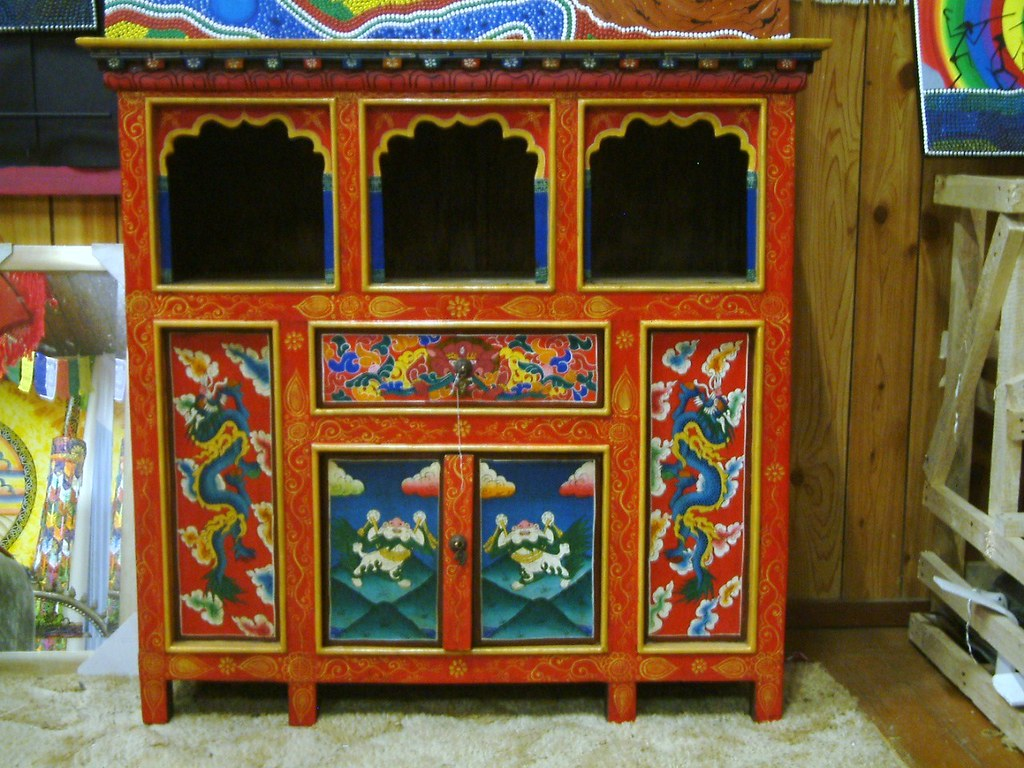 Tibetan Furniture   Cupboard / Altar | Andy Stevens | Flickr
