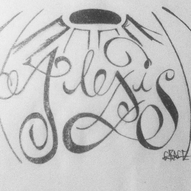 Name Alexis Tattoo Alexis Tattoo Black
