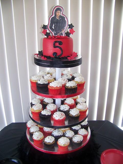 Michael Jackson Cupcake Tower Flickr Photo Sharing