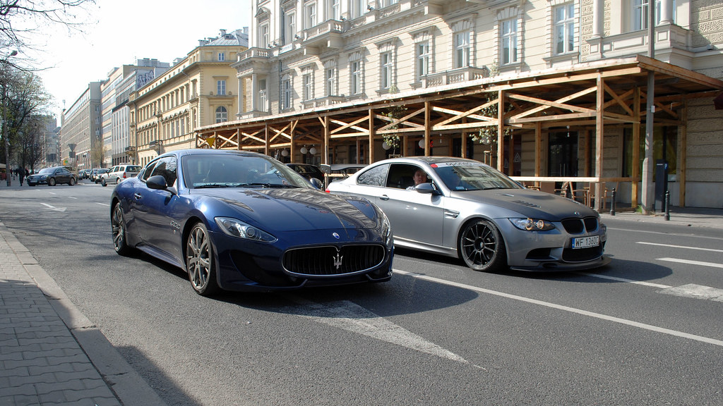 Maserati GranTurismo Sport & BMW M3 E92 Coupe | Michał Koziński | Flickr