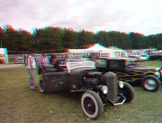 Hot rod and custom show in Chimay 2012, 3D photo (anaglyph) | by Stereomania