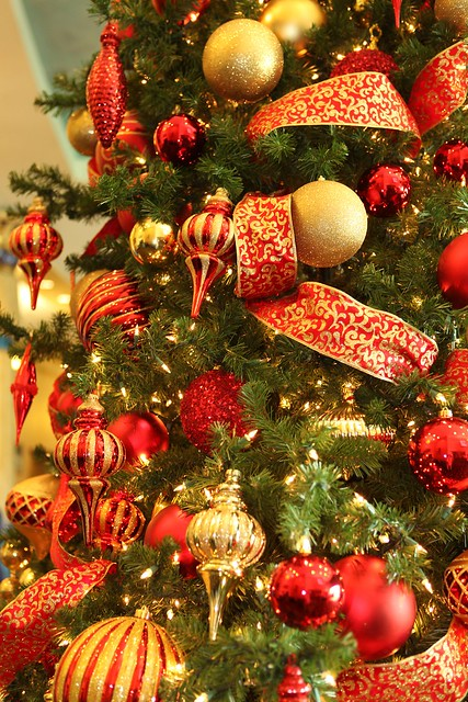 Red And Gold Christmas Trees Flickr Photo Sharing