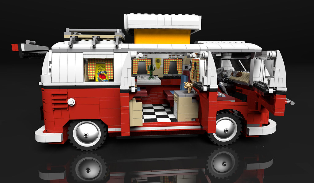 lego 10220 lego 10220 volkswagen t1 campingbus povray. Black Bedroom Furniture Sets. Home Design Ideas