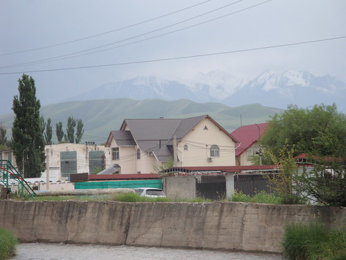 Houses allegedly built illegally in a public park in Bishkek. | by PRI's The World