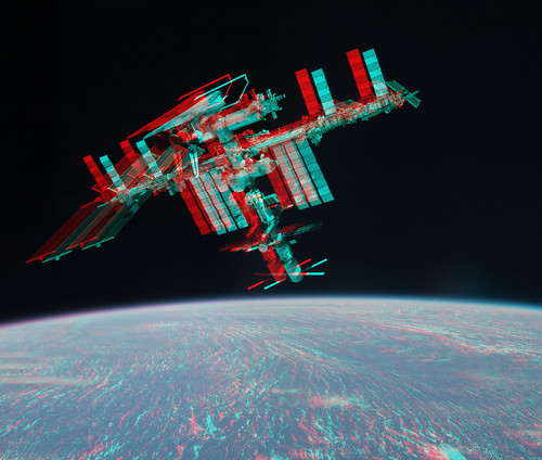 3d iss endeavour flickr photo sharing for Space blast 3d