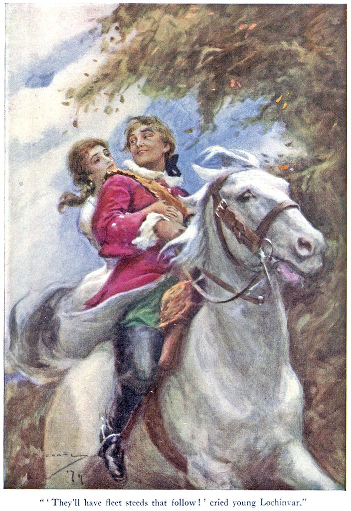 lochinvar by sir walter scott Comments & analysis: o, young lochinvar is come out of the west, / through all  the wide border his steed was th.
