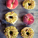 Peach Donuts Glazed with White Chocolate & Pistachios