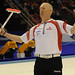 Basel Switzerland.April7_2012.Men's World Curling Championship.Canadian skip Glenn Howard.CCA/michael burns photo