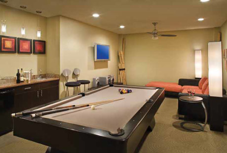 Recreation room pool table daytona seabreeze guests for Rec room pools