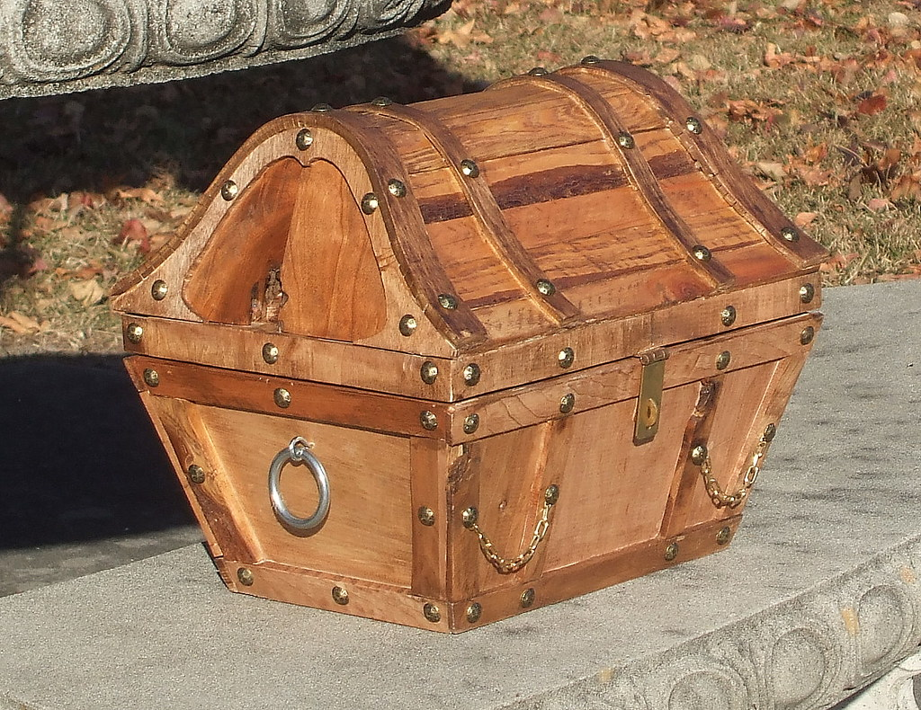 Wooden Treasure chest made by Arlene | This rustic ...