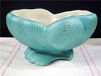 Vintage Turquoise Shawnee Pottery Shell Planter Vase Flickr