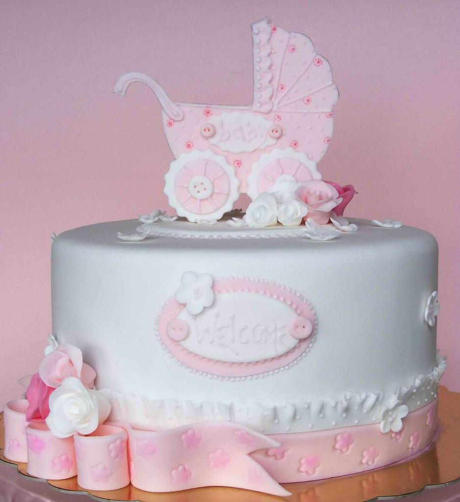 New Baby Cake Images : Baby girl cake For baby Mihaela ????????? ?? bubolinkata ...