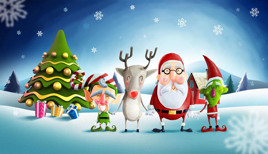Navidad super pollo ilustraci n para una tarjeta - Tarjetas de navidad artesanales ...