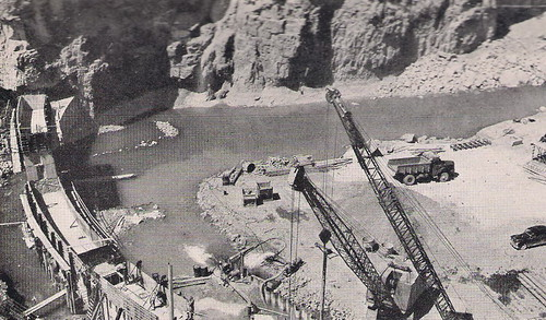 Dokan Dam Under   Constraction 1955