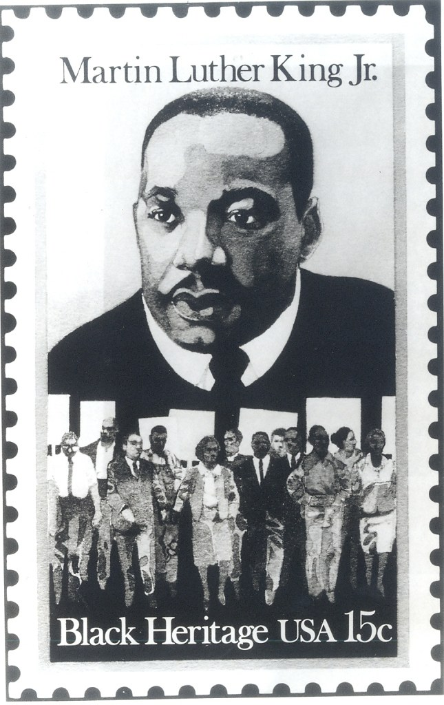 Tribute To Martin Luther King Jr Postal Stamp Issued By Flickr