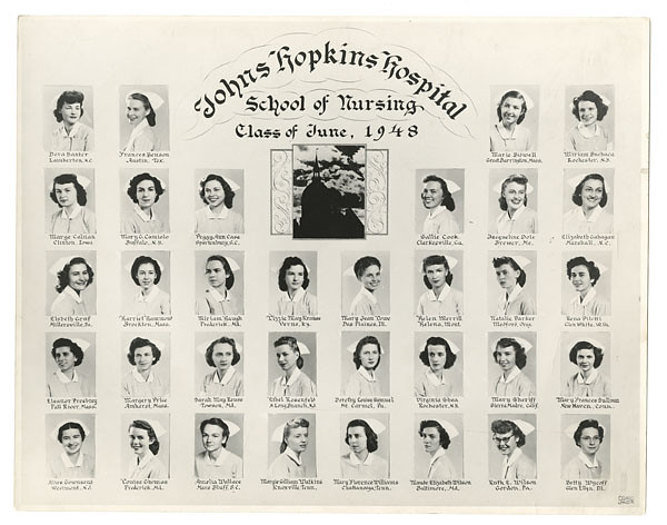 johns hopkins hospital school of nursing  class of june 1