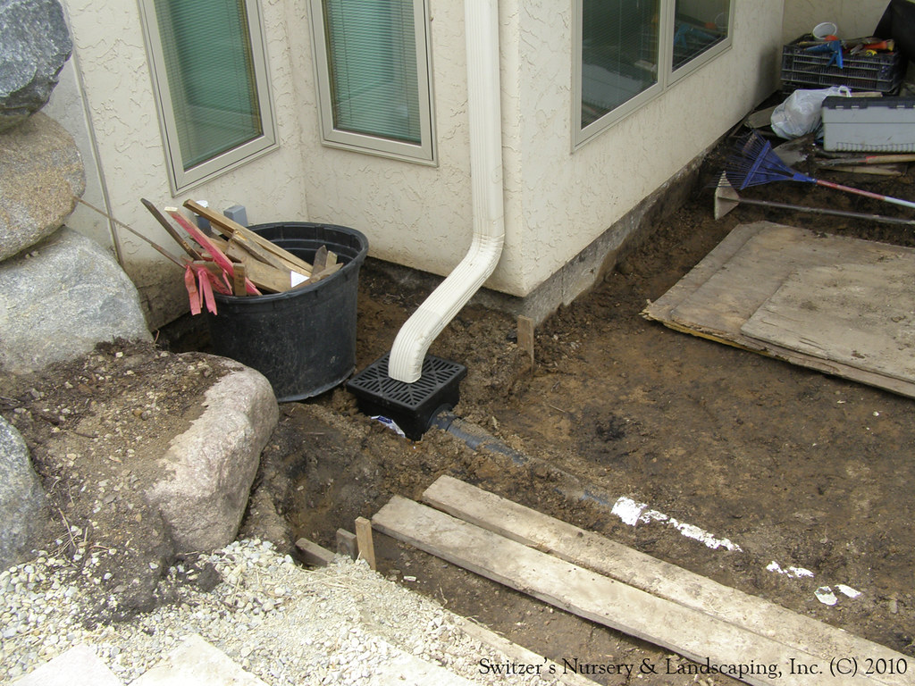 Hardscape Installation Patio Drainage Work Directing D