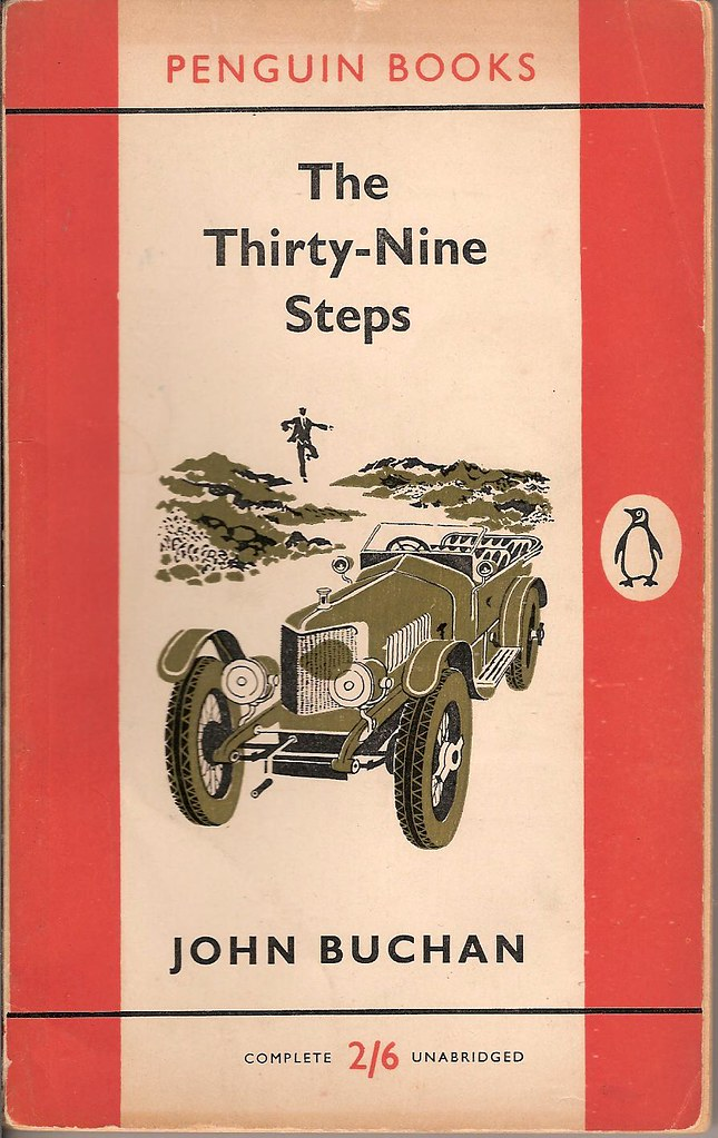Penguin Book Cover Jobs : The thirty nine steps penguin book cover this edition
