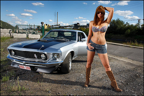 Ford Mustang 1969 Coupe Sexy Girl Sexy Girl With A 1969