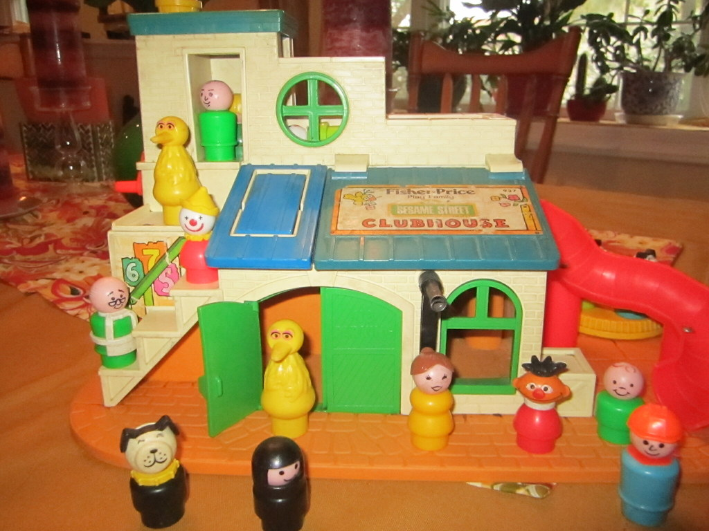 Sesame Street Clubhouse | c. 1970s Manufactured by Fisher-Pr… | Flickr