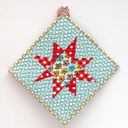 Starbright pot holder/mug rug back | by verykerryberry