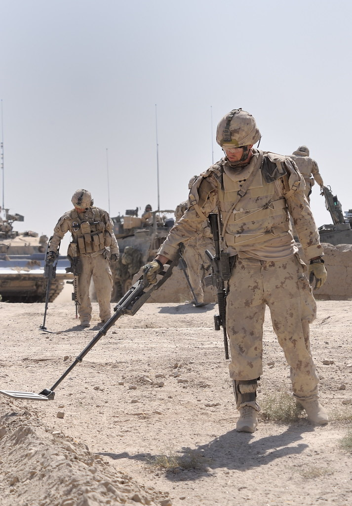 Combat Engineers Scan The Grounds For Improvised Explosive