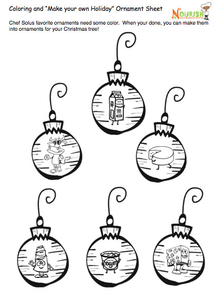 Printable Christmas Symbols Coloring Ornaments As Well As English ...