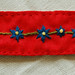 Wool embroidered bracelet Blue
