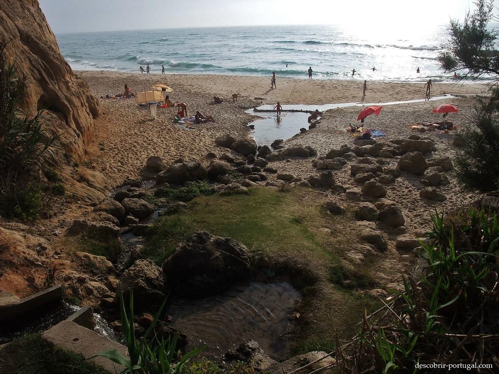Ruisseau d'eau douce traversant la plage